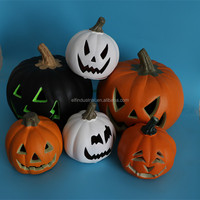 China craft paty city halloween artificial white light up pumpkins wholesale for sale