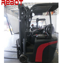 Indoor warehouse equipment 3 wheels mini Electric Forklift in stock with forks sideshift