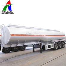 China Oil Tanker 3 Axis 45000l Crude Oil petroleum Fuel Steel Tank Semi Trailer