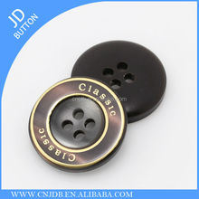 polyester plastic resin 4 holes button for suit jacket