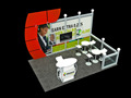 10X10 portable trade show exhibition booth from Shanghai