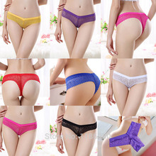Women Lace Sexy Underwear Cotton Seamless Transparent Panties Low Waist