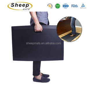 Customize logo PU foam anti fatigue floor mats anti slip standing desk mat