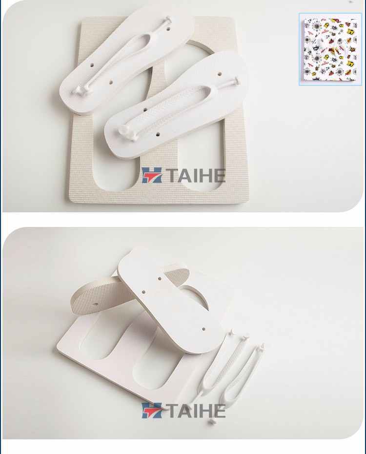 custom personalized heat transfer printing board slipper rubber blank sublimation flip flops manufacturing