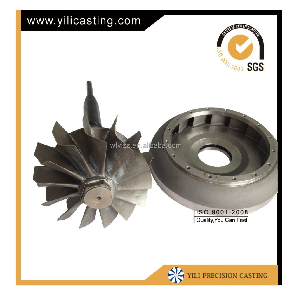 Casting service of parts of 60kg thrust rc jet turbine jet engine price