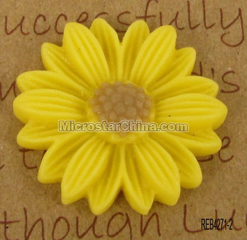 Promotional resin flower cabochon for souvenir