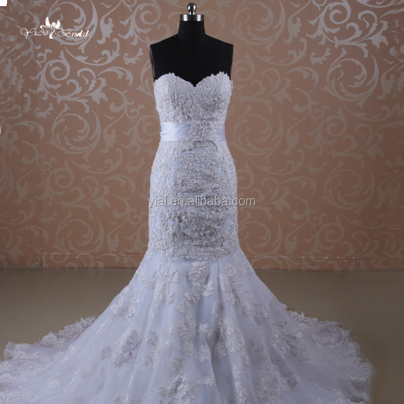 J--0010 New style stero and willis lace slim fit comfortable simple elegant mermaid wedding dress