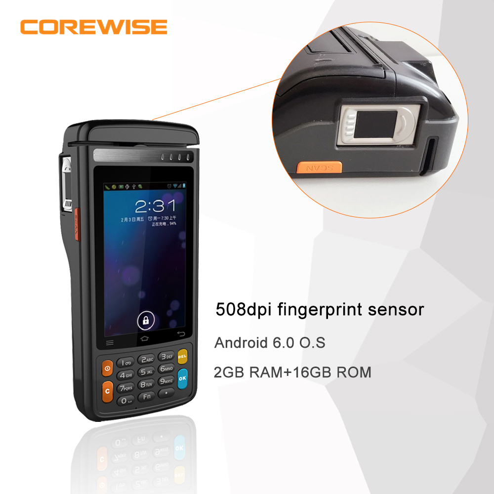 Android 6.0 4G handheld cheap POS for recharge,top up,bill payment, selling lottery/tickets with thermal printer