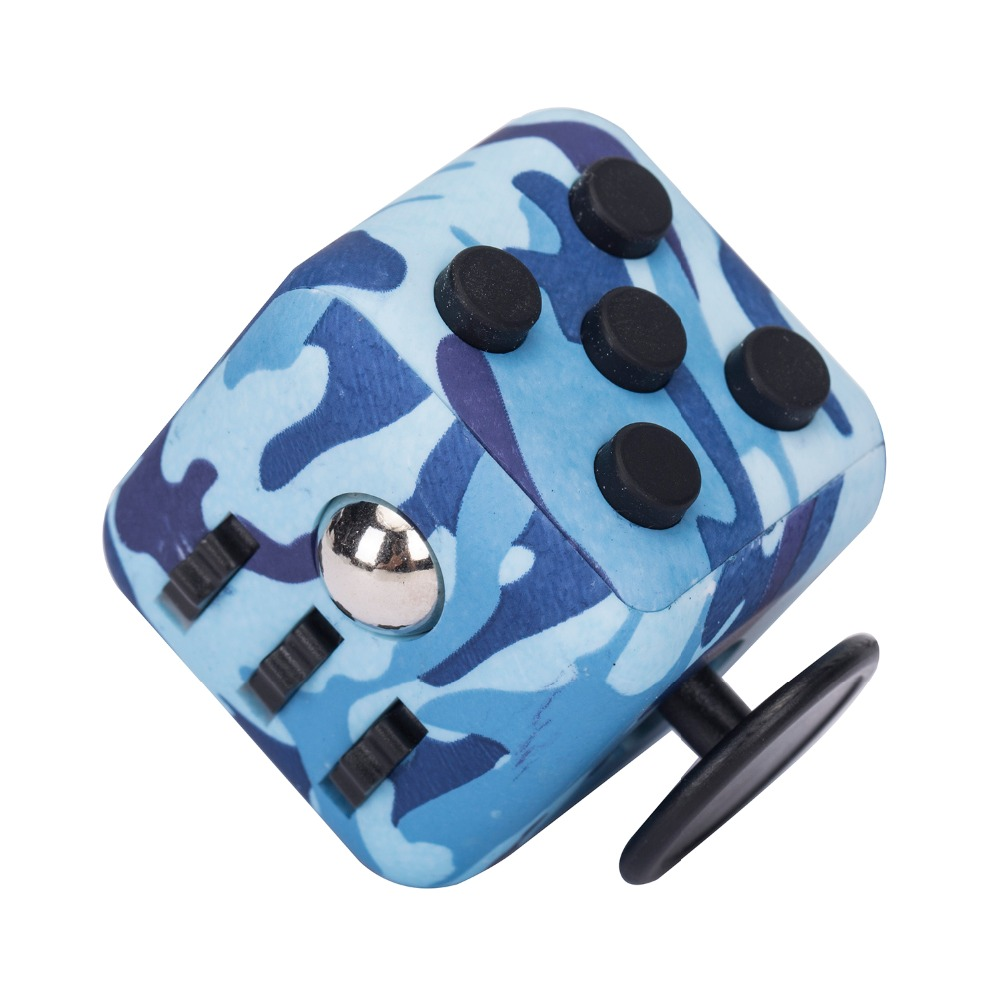 Funny 6-Side Desk Fidget Cube anti stress Puzzle Toys for people likes to shake and fidget.
