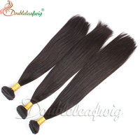 Natural color 8a grade free weave brazilian hair packs bundles