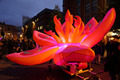 Giant pink inflatable flowers decoration with lighting