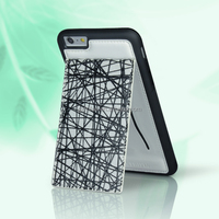 White back cover for smart phone, leather case for iphone6 plus