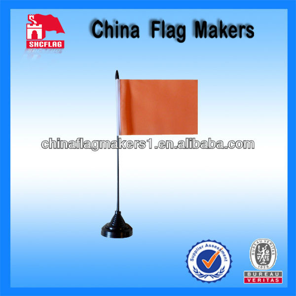 Custom Blank Orange Polyester Desk Table Flag