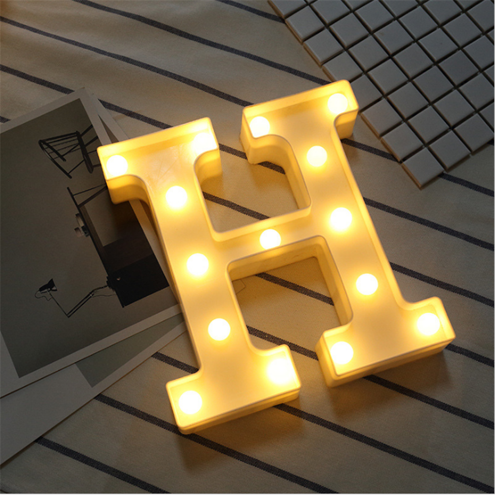 HOPE LED Marquee Letter Lights Alphabet Light Up Sign Night Light for Home Decor