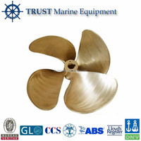 Marine fixed pitch engine 4 blades propeller