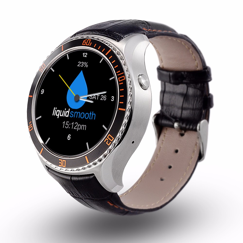 MTK6580 Android 5.1 Wifi <strong>GSM</strong> 3g smart watch with gps / heart rate