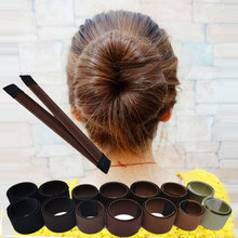 Girls Fashion DIY Magic Hair Bun Maker High Quality Hair Accessories for Women Dish Made HairBands Fine <strong>Headbands</strong> Z0306