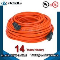 Orange/Yellow Color UL Outdoor STOW Extension Cord for grading machine