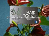 Silver Foil Member Card For Hair Salon