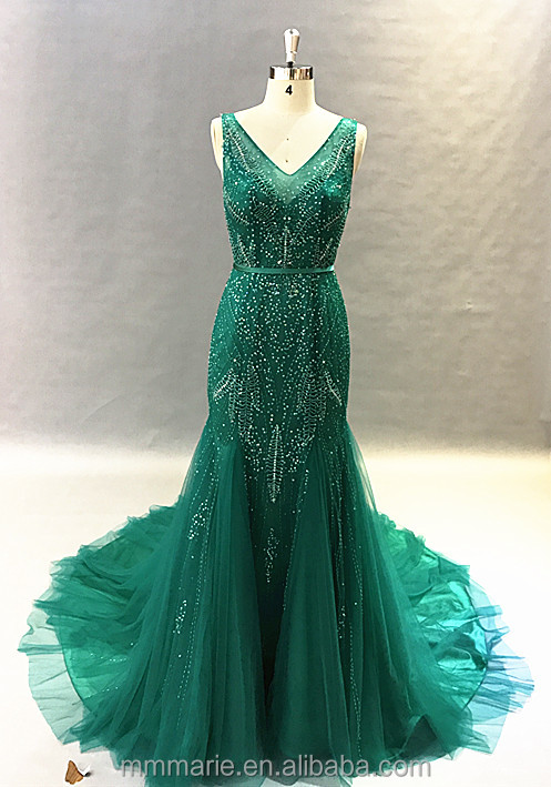 Green Forest Weeding Dress