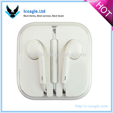 2015 New Design Earphones with Remote Microphone and Volume Controls Full Headset for Iphone 5 for 5S for 5C Original