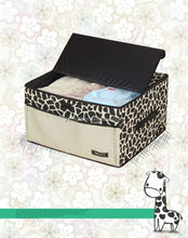 Household Fabric cube foldable storage box with handle for clothes or toy