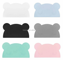 Cartoon bear shape design ,Slip Resistant Silicone Baby / <strong>Kid</strong> / Children Placemats Place Mats Table Mat Meal Mat