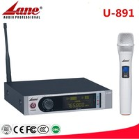 Lane UHF wireless microphone system with single transmitter compact size U-891