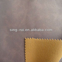 Single side flocking material for sport shoes