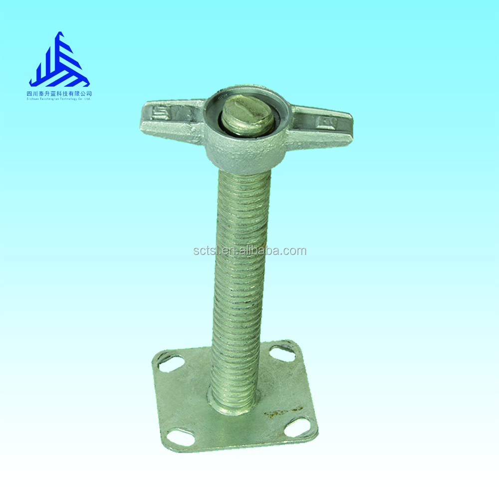 Construction Screw Jack with Swivel Base Plate