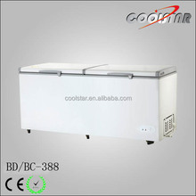 Deep top open chest type freezer for ice cream