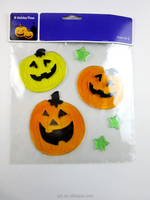 Halloween Pumpkin &Candy Gel Clings For Window Or Cups