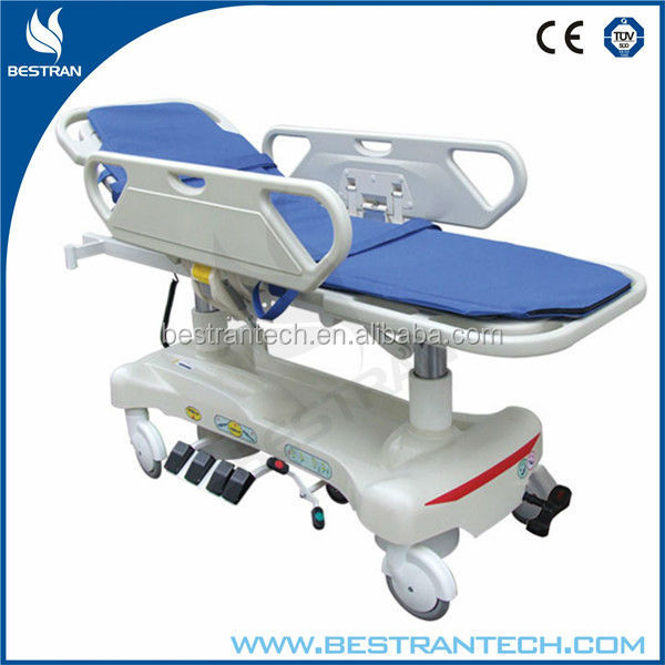 BT-TR010 Luxury Hospital Emergency Room Patient Trolley Electric Ambulance Stretcher For Sale