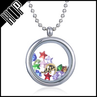 necklaces jewelry 2016 fashion stainless steel shake star glass locket necklaces