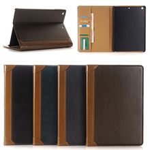 Vintage Book Style Flip Leather Case for iPad 2017 9.7 inch New