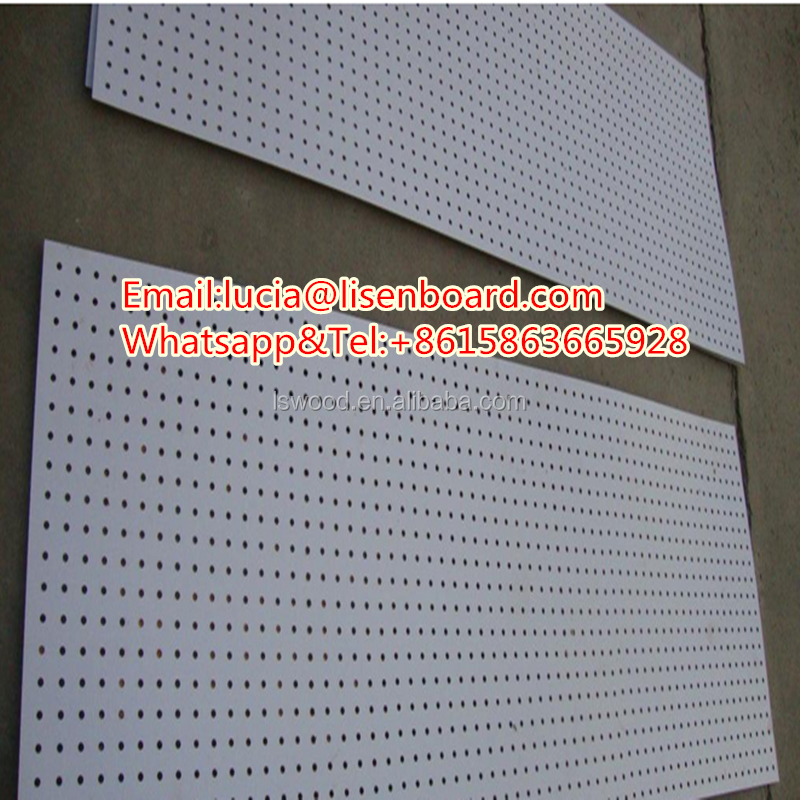 melamine faced MDF pegboard for products display / decorative use