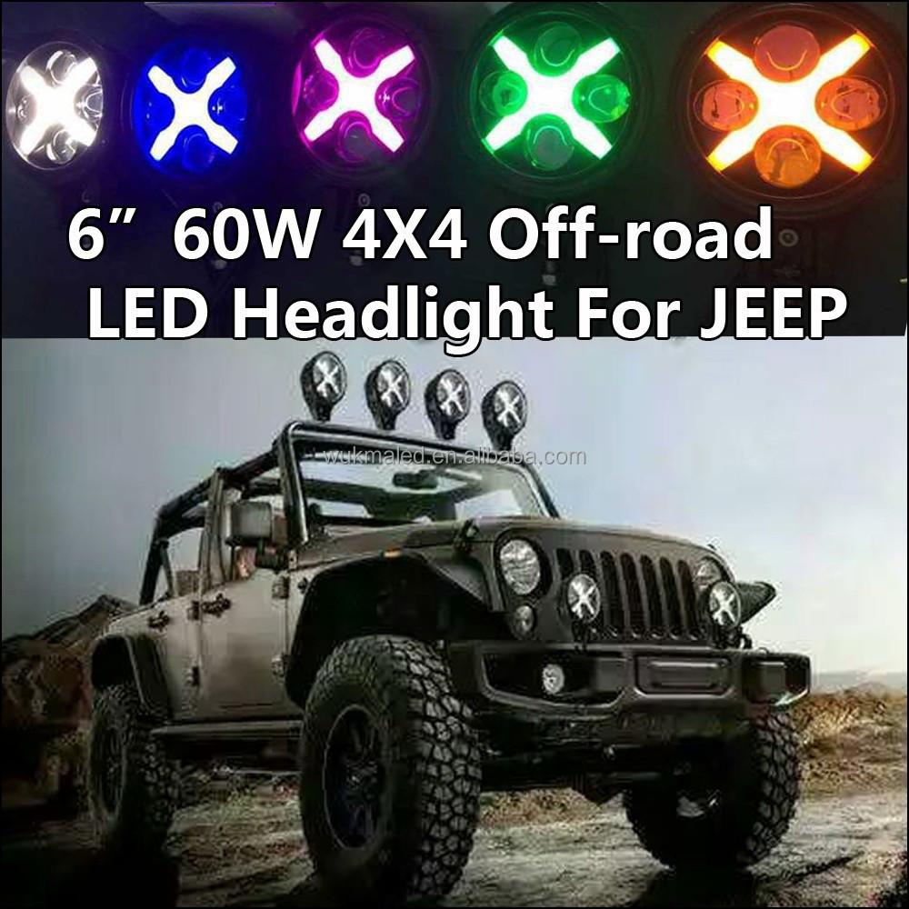 6 jeep wrangler jk off road led x lamp drl auxiliary fog. Black Bedroom Furniture Sets. Home Design Ideas