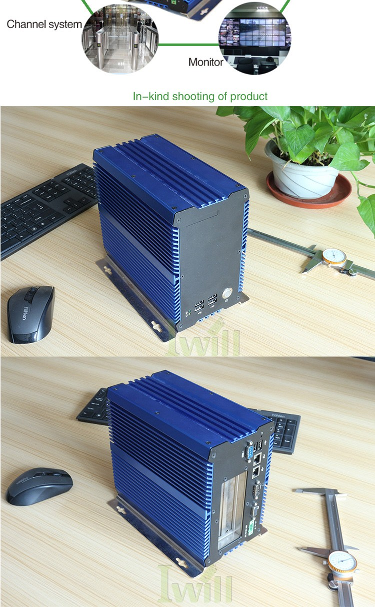 Latest computer hardware IBOX-701 industrial fanless embedded pc RS/422/485 with 2 PCI slot