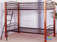 Zhangzhou wooden posts steel slats metal bunk beds wholesale