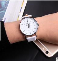 Big Dial Transparent Hollow Skeleton Simple Wristwatch Women Watches Fashion Casual Leather Couple Table Dress Watch