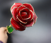 Women's day gift beautiful gold plated rose flower