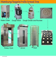 Hot Selling Hamburg production Line used baking Equipment Automatic Bread Baking Machine /Rotary Oven for Sale