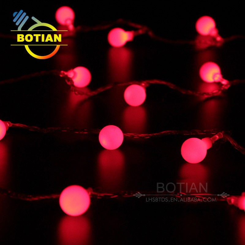 Personalised led dated waterproof decorative outdoor hanging battery operated christmas light balls
