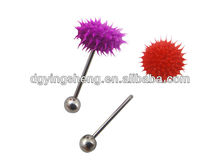 Fashion vibrating body jewelry silicone tongue barbell