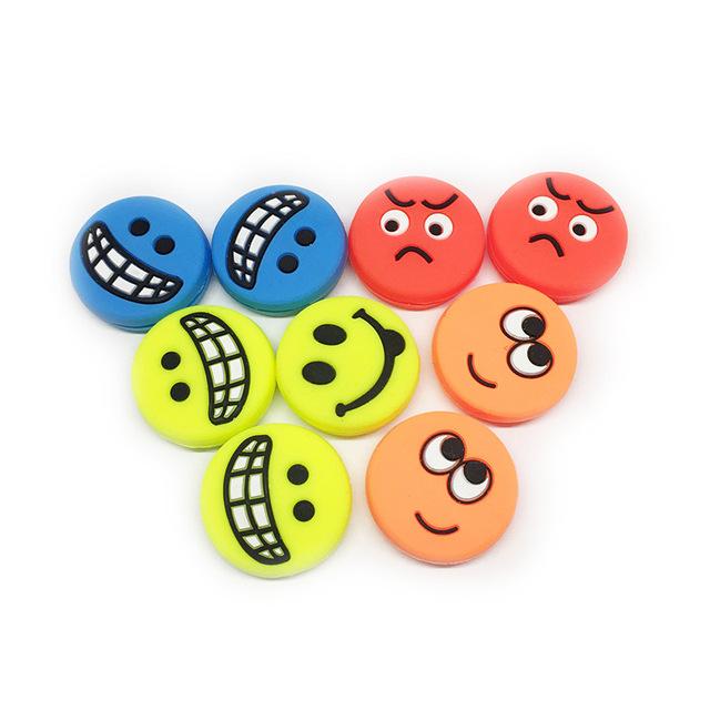 Smile Face Emoji silicone tennis racket shock absorber tennis vibration dampener