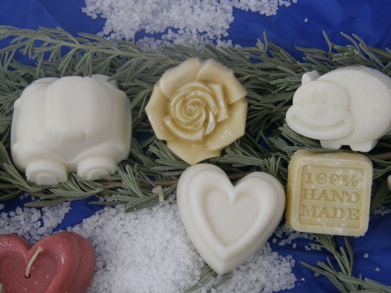 Organic soap handmade natural oz 3.5 Web oils Shea Treatment of acne, psoriasis, *** Flower ***