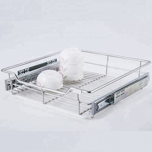 Kitchen hardware drawer stainless steel 304 pull out cabinet wire baskets for bowl in malaysia