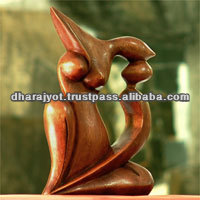 hand carved from suar wood modern art