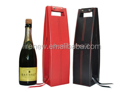 PU Leather Wine Display Gift Box Wine Carrier FN1925