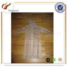 Promotional Customized Transparent Plastic PE Disposable Raincoat